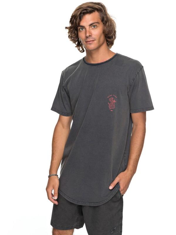 0 Scallop Board Fusion - T-Shirt Black EQYZT04768 Quiksilver