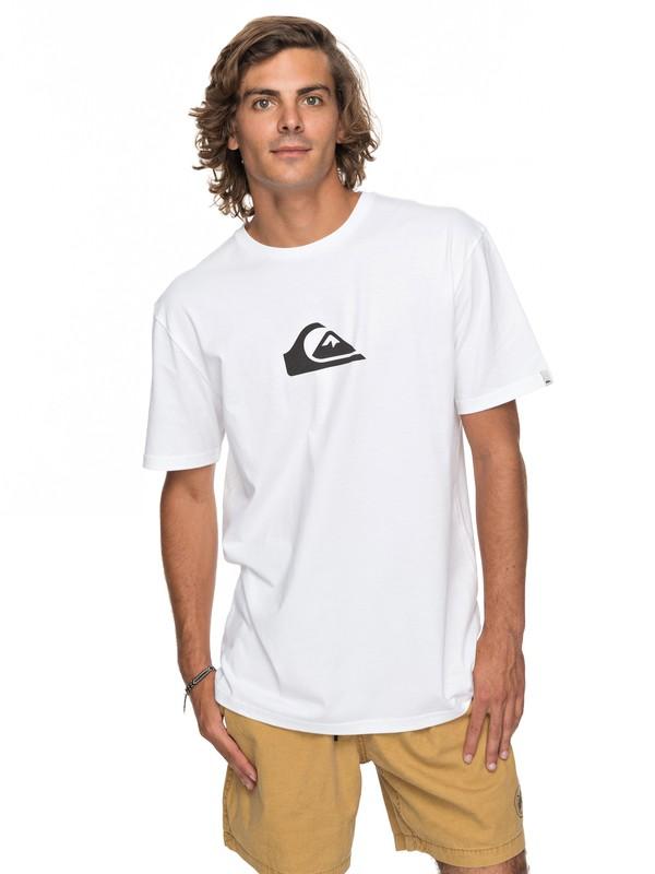 0 Classic Comp Logo - T-Shirt for Men White EQYZT04773 Quiksilver
