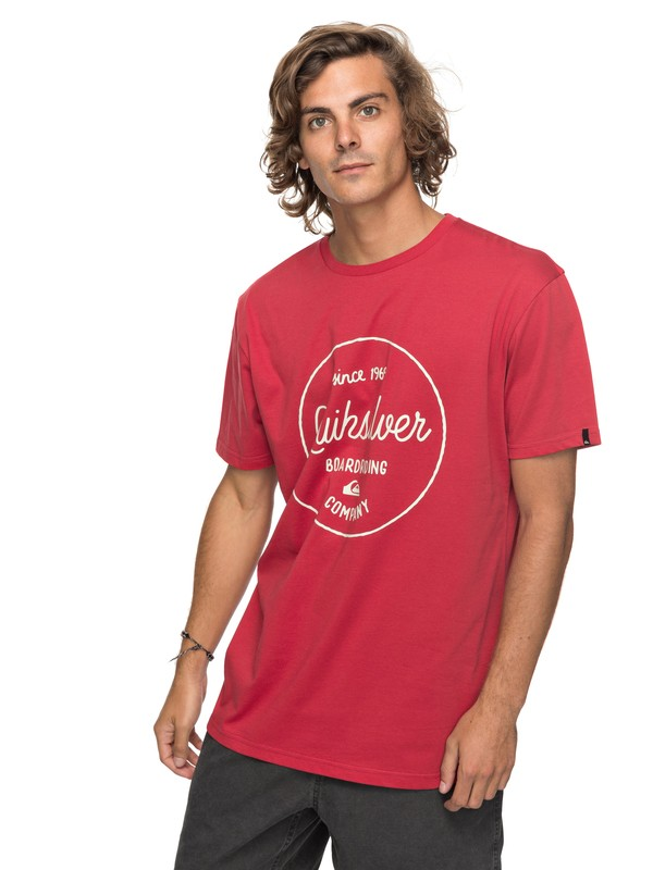 0 Classic Morning Slides - T-Shirt for Men Red EQYZT04774 Quiksilver