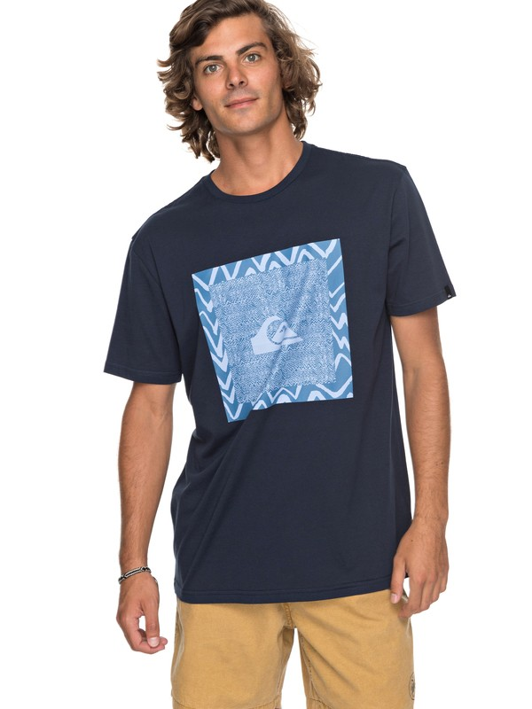 0 Classic Nano Spano - T Shirt col rond pour Homme Bleu EQYZT04775 Quiksilver
