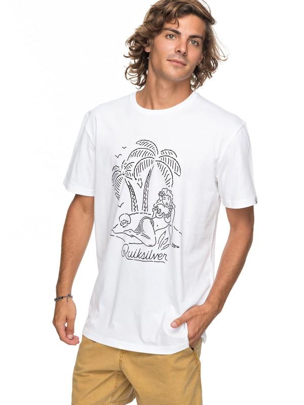 0 Classic Sayin - T-Shirt White EQYZT04776 Quiksilver