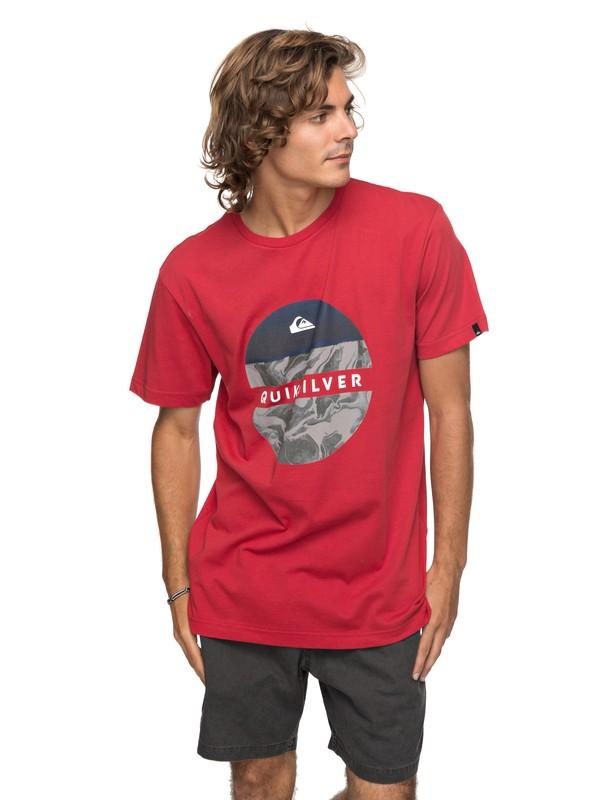 0 Classic Outer Hacka - Camiseta para Hombre Rojo EQYZT04780 Quiksilver