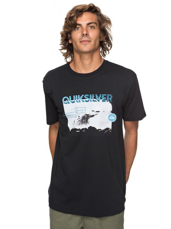 0 Classic Black Horizon - T-Shirt for Men Black EQYZT04783 Quiksilver