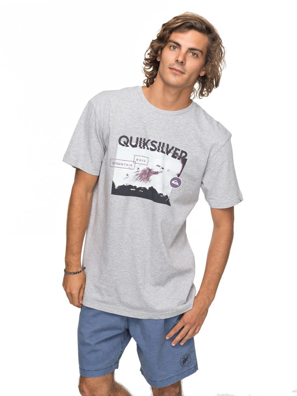0 Classic Black Horizon - T-Shirt for Men Gray EQYZT04783 Quiksilver