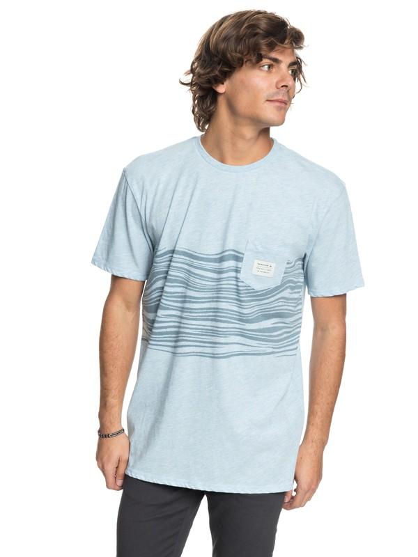 0 Men Zebra Zone Camiseta con Bolsillo  EQYZT04868 Quiksilver