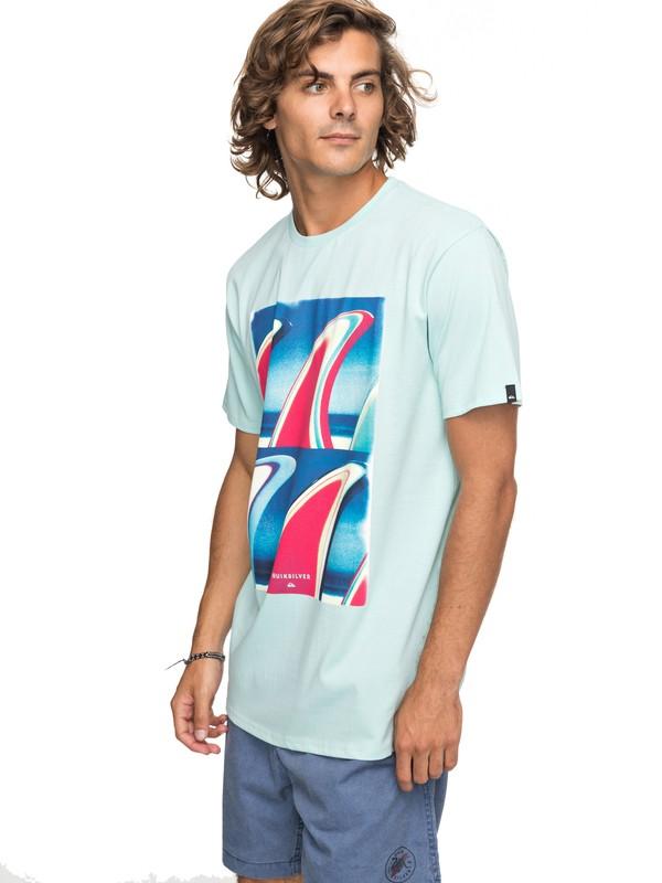 0 Classic Fin Fanatic - T-Shirt für Männer Blau EQYZT04896 Quiksilver