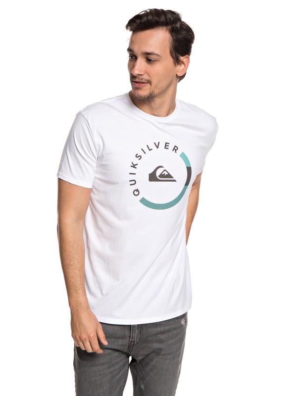 0 Slab Session - T-shirt col rond pour Homme Blanc EQYZT04940 Quiksilver