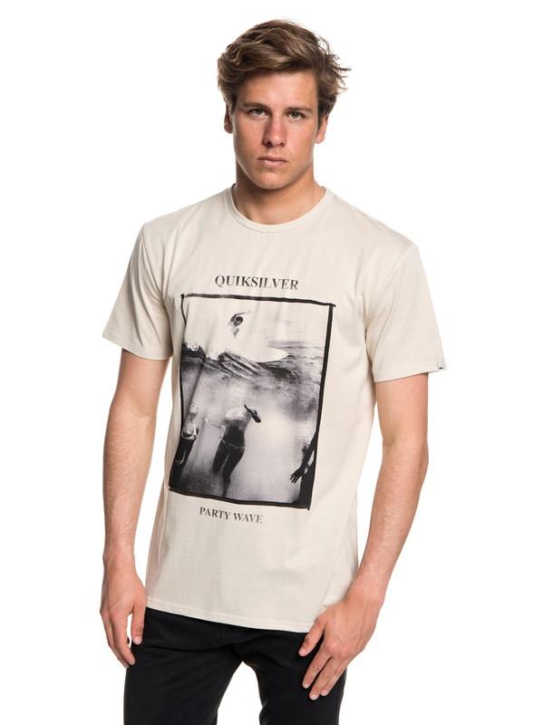0 Wave Party - T-shirt col rond pour Homme Beige EQYZT04948 Quiksilver