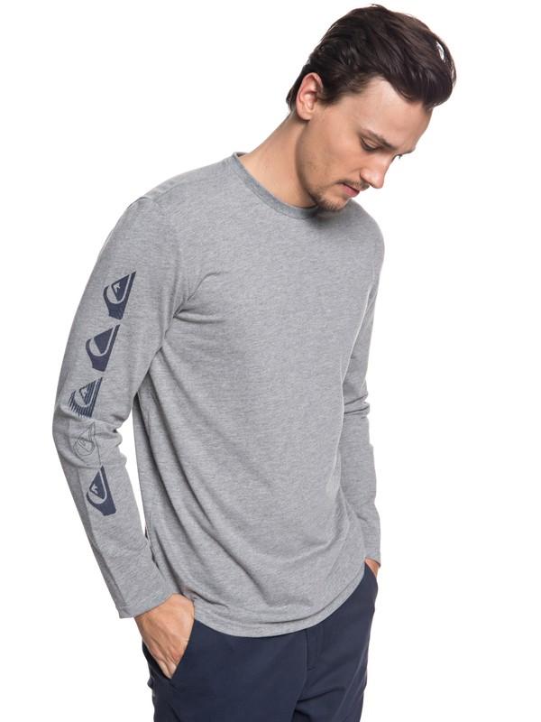 0 Double Stringer - Technisch UPF 30 T-shirt met lange mouwen Black EQYZT04970 Quiksilver