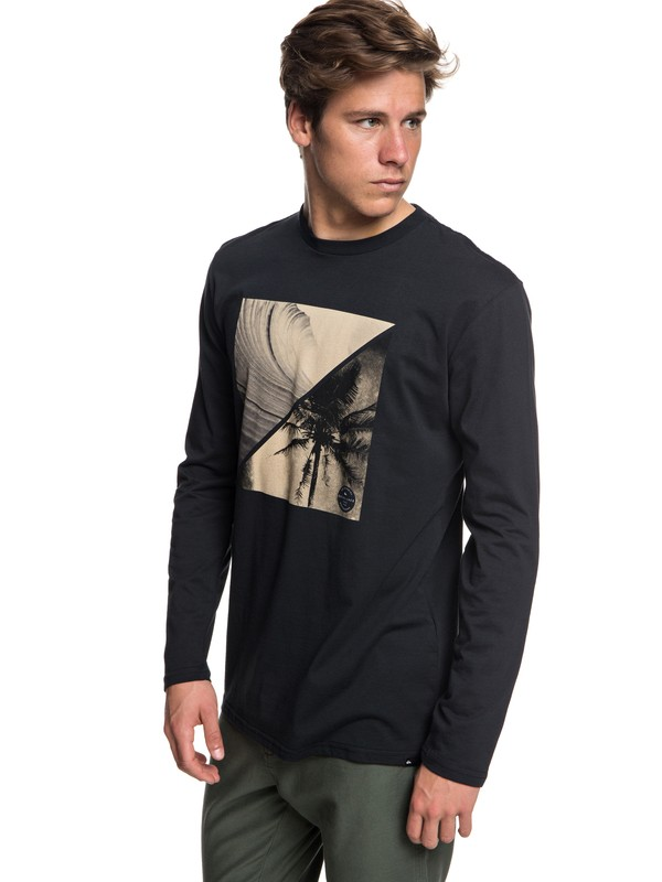 0 Colourful Night - Long Sleeve T-Shirt for Men Black EQYZT04975 Quiksilver