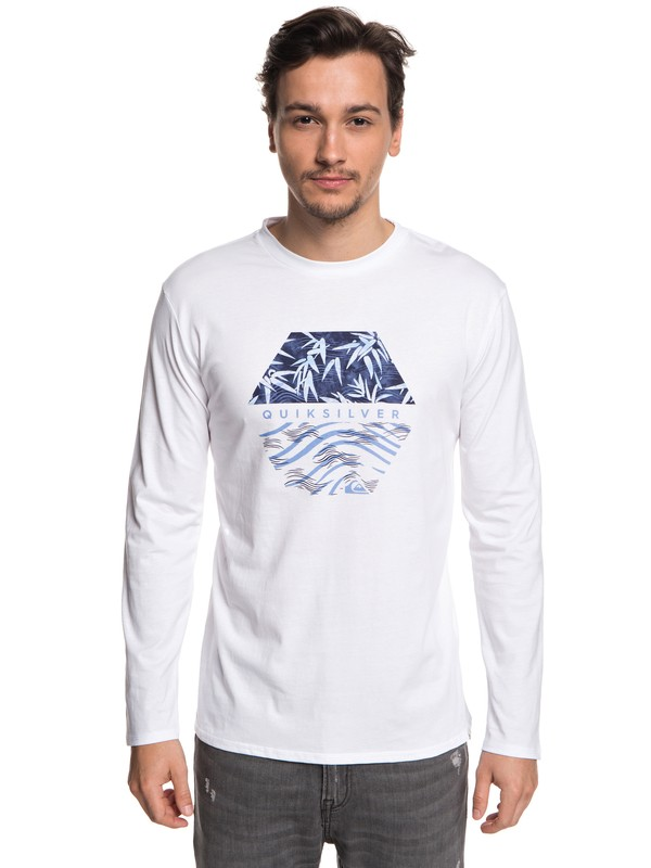 0 Bamboo Breakfast - T-shirt à manches longues Blanc EQYZT04976 Quiksilver