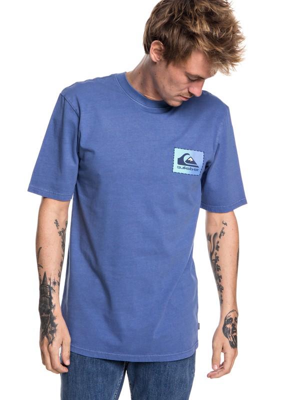 0 Hombres Camiseta con Parche Classic Original Azul EQYZT04983 Quiksilver