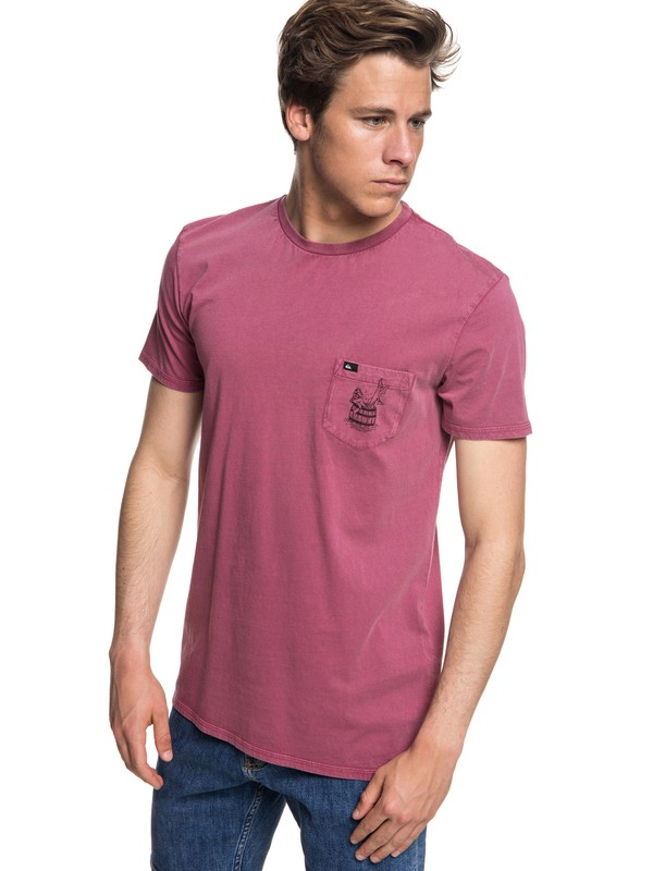 0 Gettin Barreled - T-Shirt for Men Pink EQYZT05001 Quiksilver