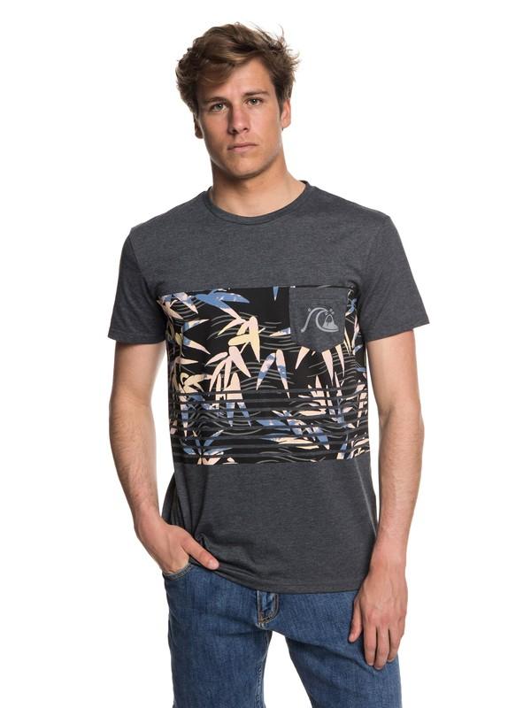 0 Silent Furry - Pocket T-Shirt Black EQYZT05006 Quiksilver