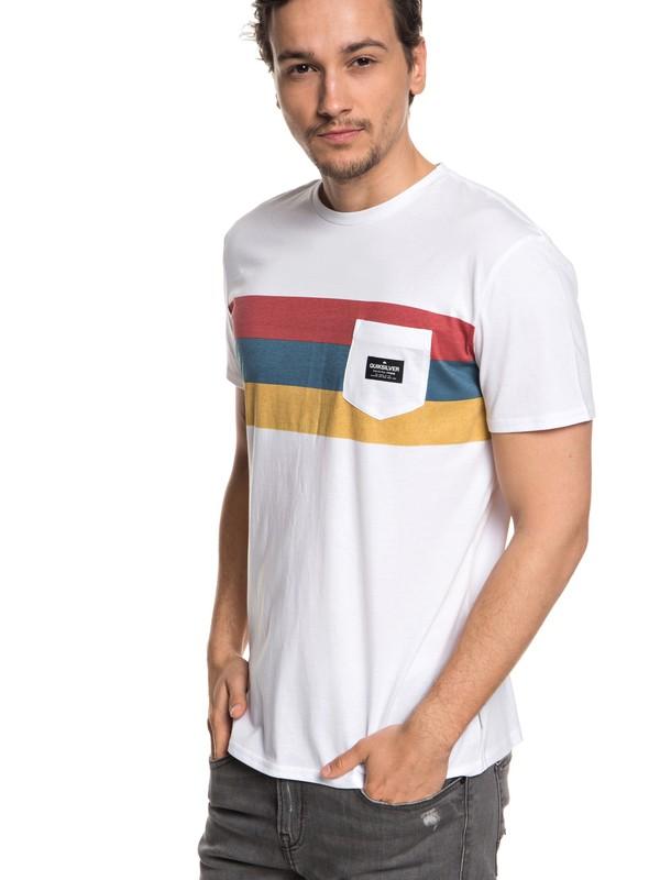 0 Peaceful Progression - T-shirt avec poche pour Homme Blanc EQYZT05007 Quiksilver