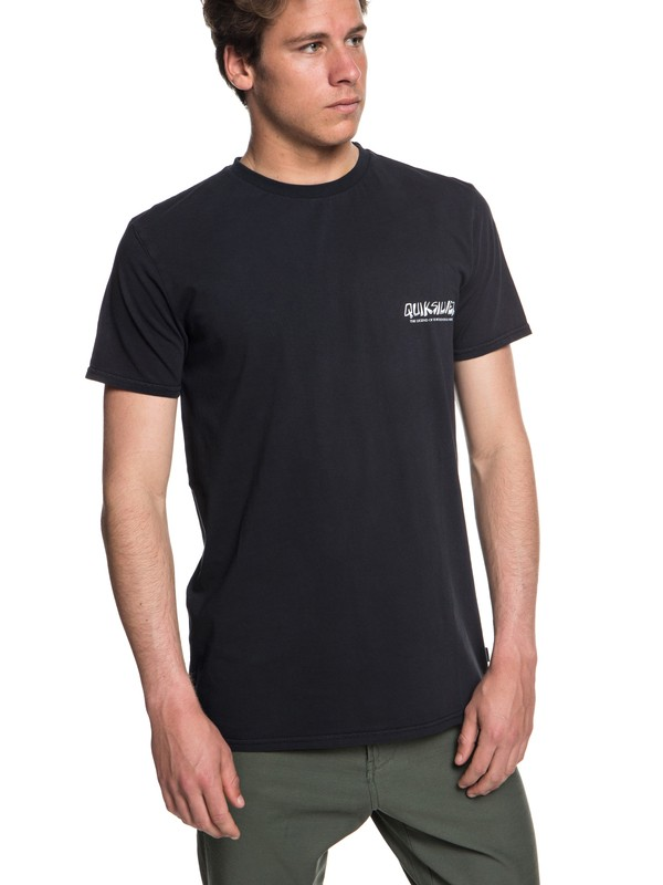 0 The Original Mountain And Wave Tee Black EQYZT05009 Quiksilver