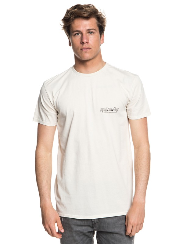 0 The Original Mountain And Wave - T-shirt col rond pour Homme Beige EQYZT05009 Quiksilver