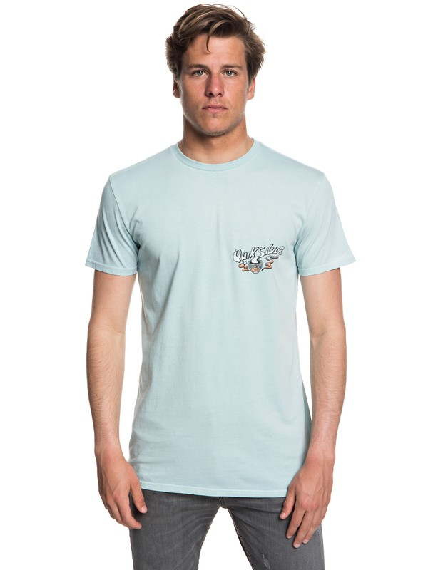 0 Men's Hot Sake T-Shirt Blue EQYZT05011 Quiksilver