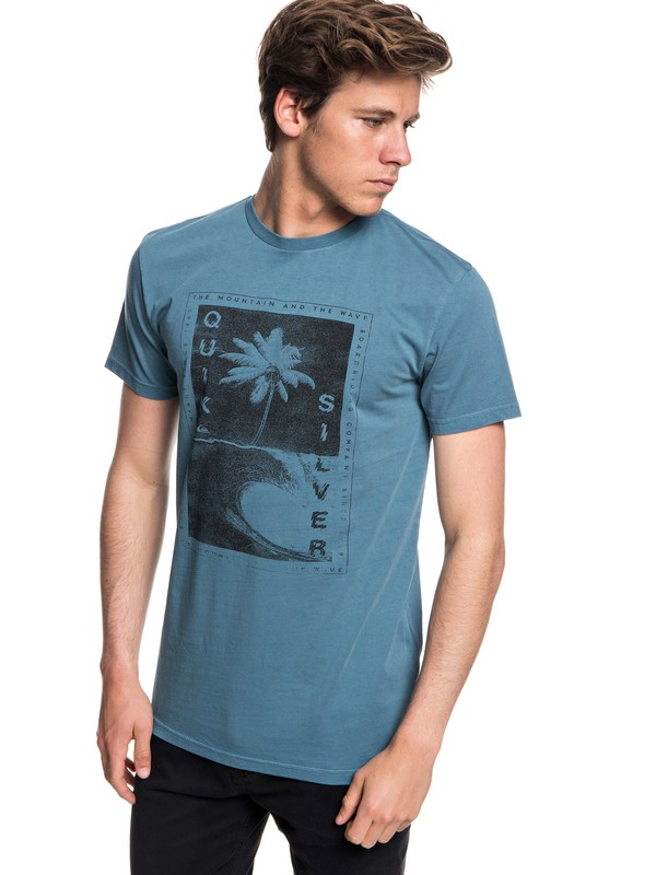 0 Destroyed Reality - T-Shirt for Men Blue EQYZT05012 Quiksilver