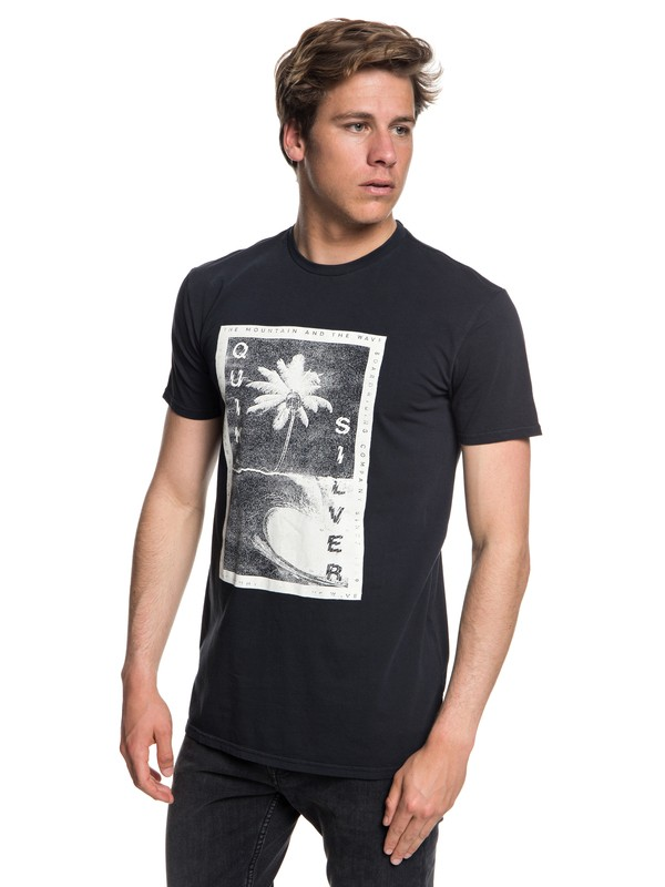 0 Destroyed Reality - T-Shirt Black EQYZT05012 Quiksilver