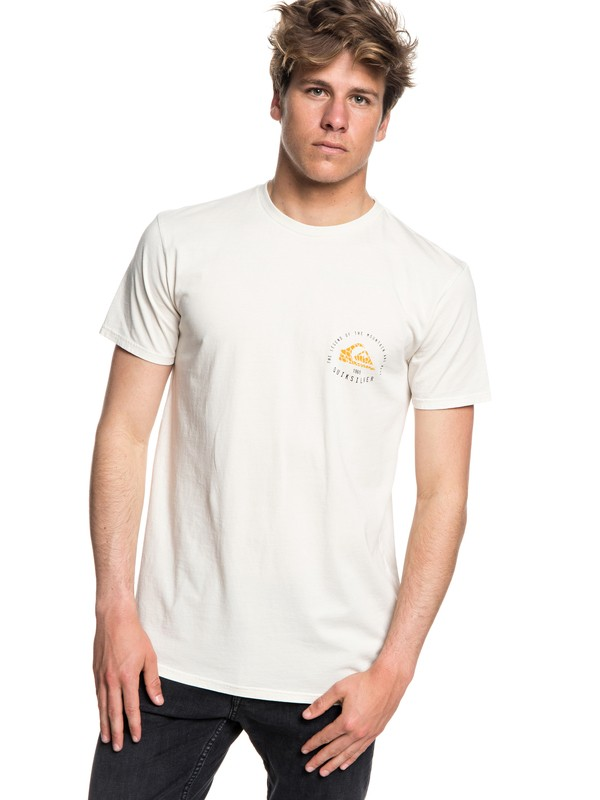 0 Rising Giant - T-Shirt Beige EQYZT05014 Quiksilver