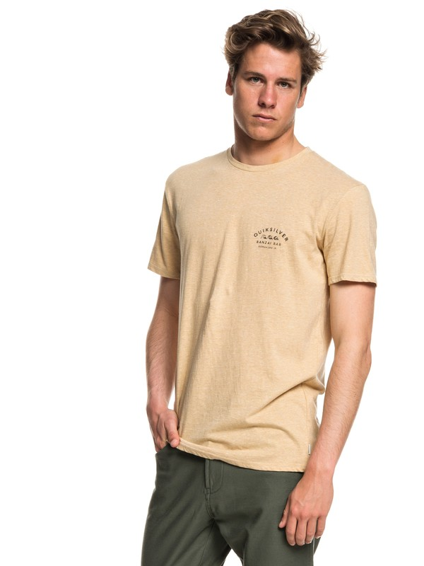 0 Banzai Bar - T-Shirt for Men Beige EQYZT05017 Quiksilver