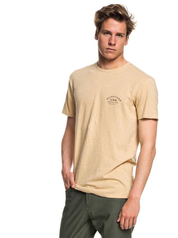 0 Banzai Bar - T-shirt col rond pour Homme Beige EQYZT05017 Quiksilver