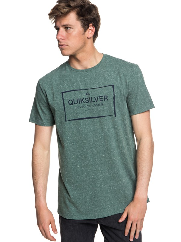 0 Quik In The Box - T-shirt col rond pour Homme Bleu EQYZT05018 Quiksilver