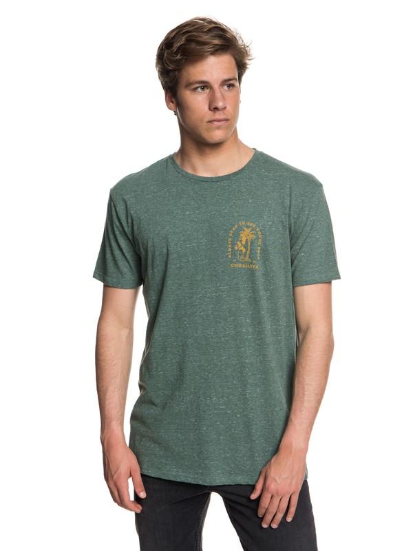 0 Men's Glad You're Back T-Shirt Blue EQYZT05019 Quiksilver