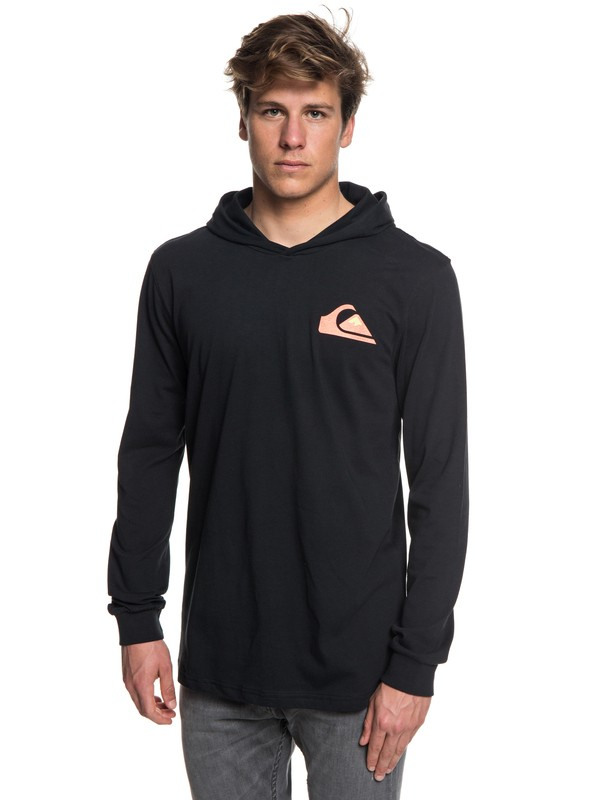 0 Vice Versa Long Sleeve Hooded Tee Black EQYZT05020 Quiksilver