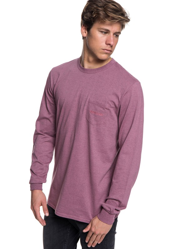 0 The Stitch Up Long Sleeve Tee Pink EQYZT05022 Quiksilver