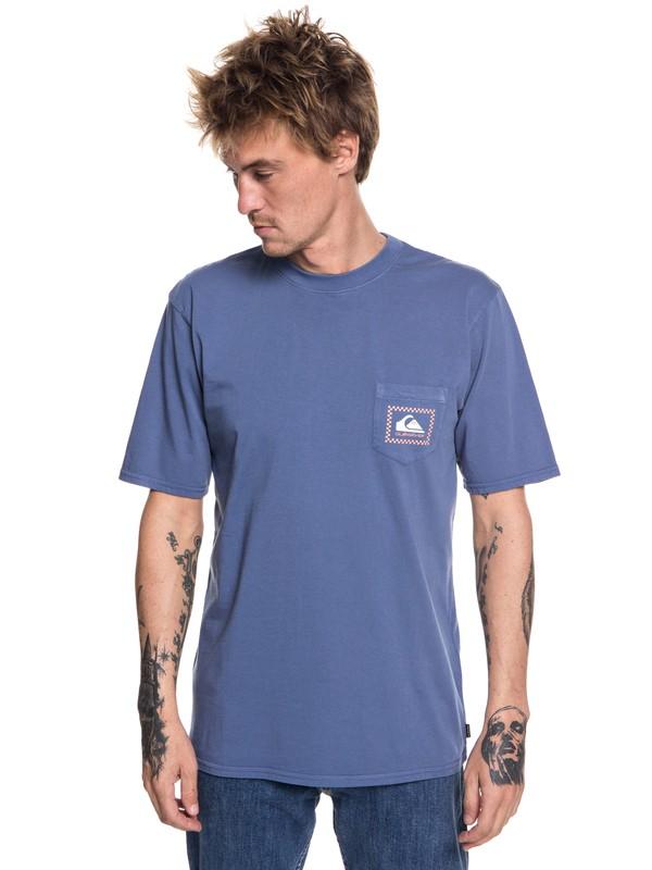 0 Originals Check Point - Camiseta con bolsillo para Hombre Azul EQYZT05042 Quiksilver