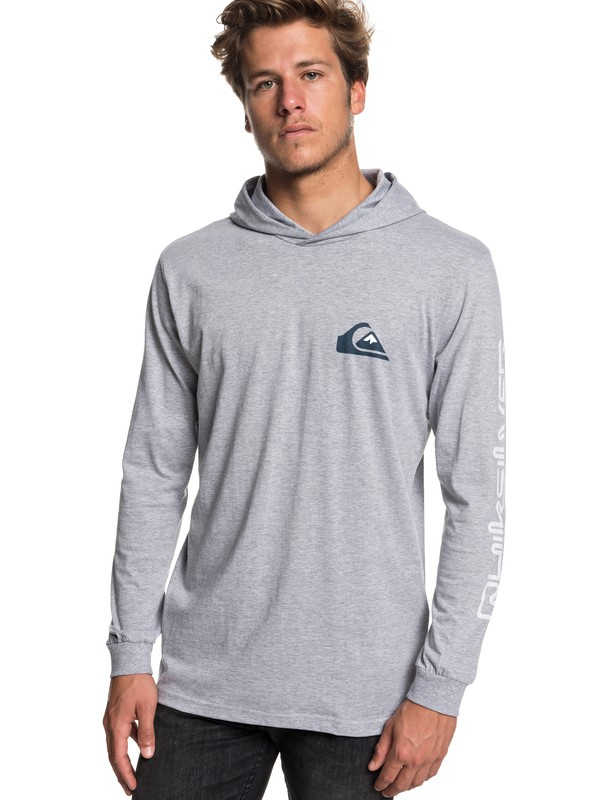 0 Vice Versa Long Sleeve Hooded Tee Grey EQYZT05169 Quiksilver