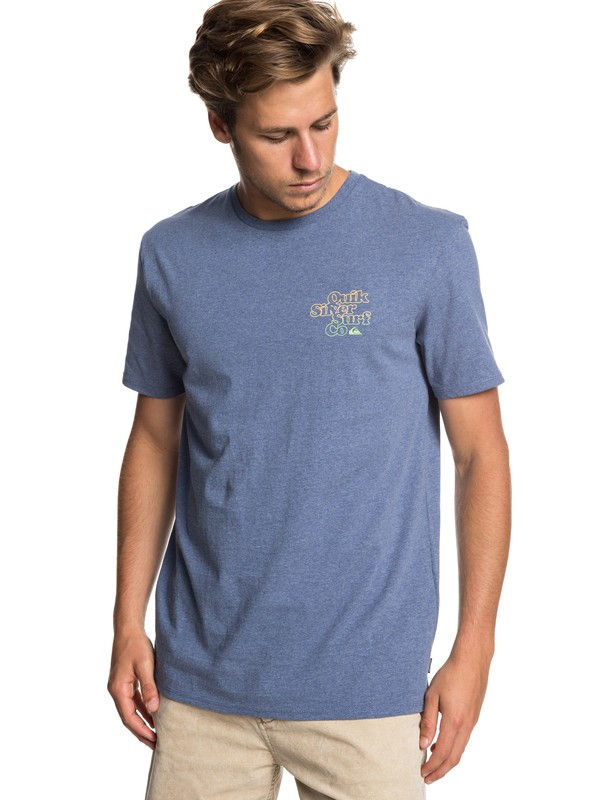0 Double Stacked Tee Blue EQYZT05230 Quiksilver