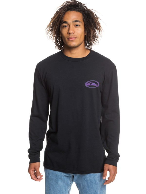 0 Cosmic Patient Long Sleeve Tee Black EQYZT05299 Quiksilver