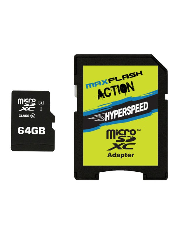 0 MaxFlash Action Hyperspeed 64GB MicroSD Card  SD64HYP DC Shoes