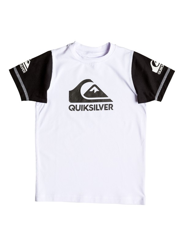 0 Boy's 2-7 Heats On Short Sleeve UPF 50 Rashguard  UQKWR03038 Quiksilver