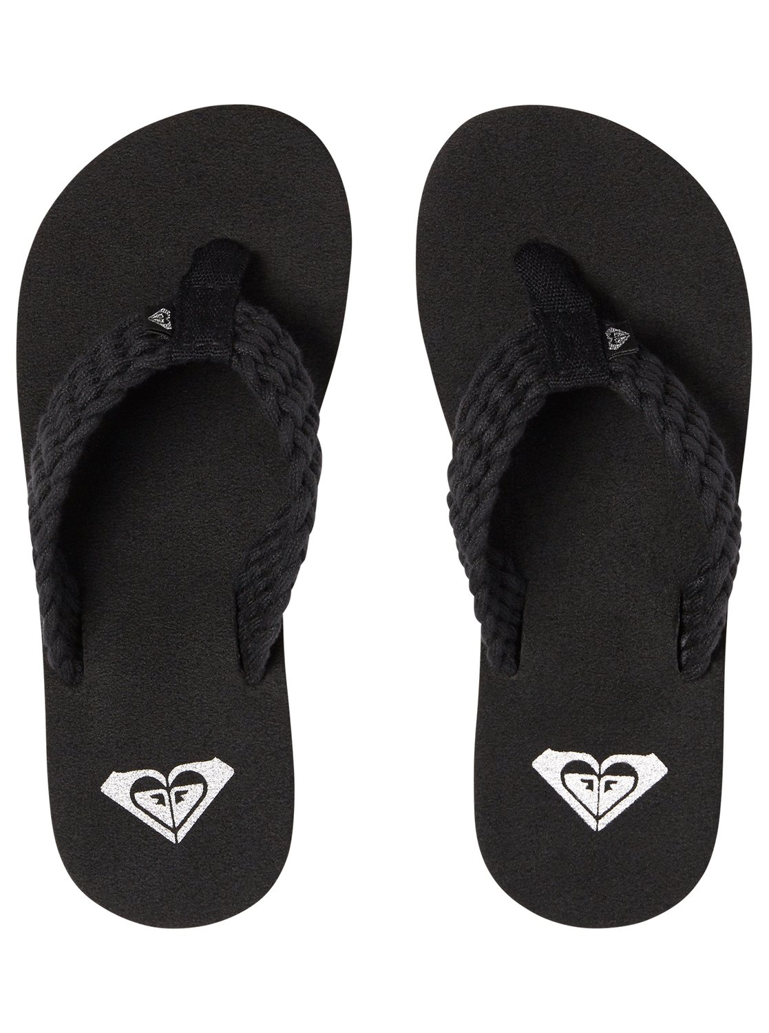 079311c9087b07 2 Girl s 7-14 Porto Sandals Black ARGL100177 Roxy