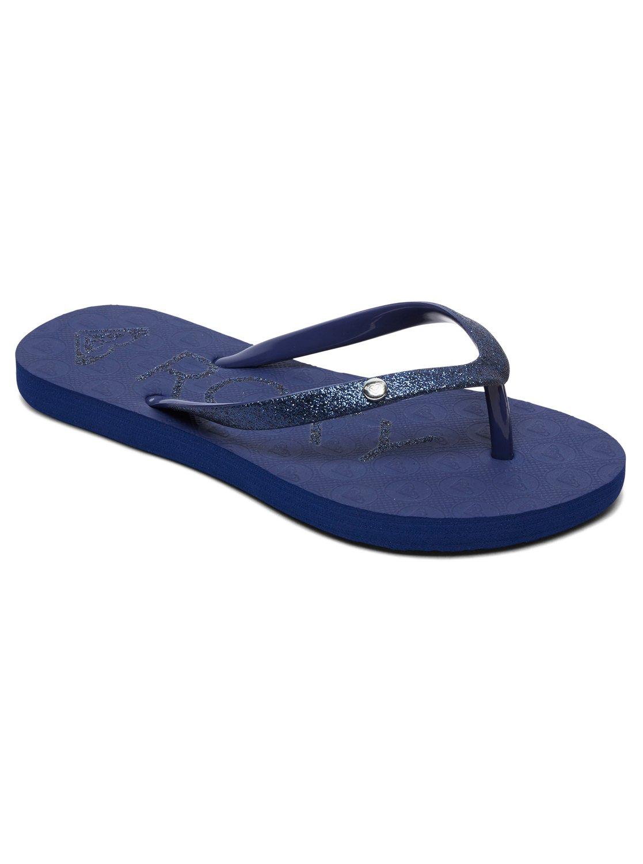 b2ab8f319b4a3 0 Viva Glitter - Tongs pour Fille Bleu ARGL100186 Roxy