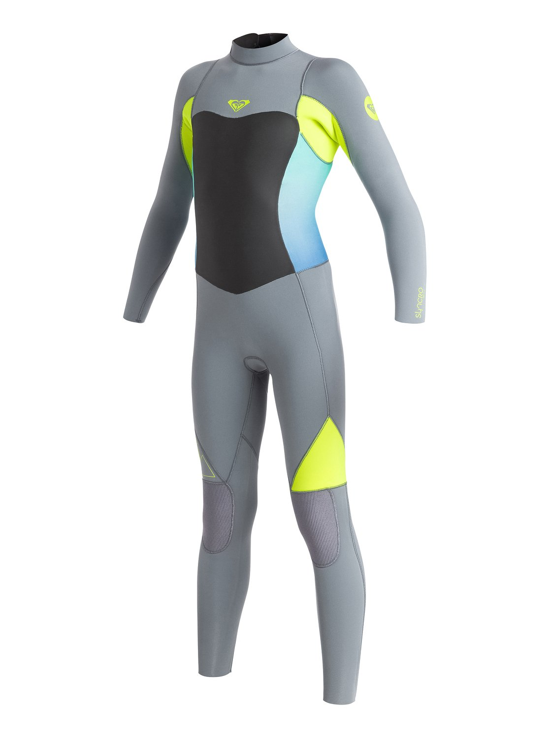 0 Girl s 7-14 3 2mm Syncro GBS Back Zip Wetsuit ARGW103004 Roxy 573edaf27