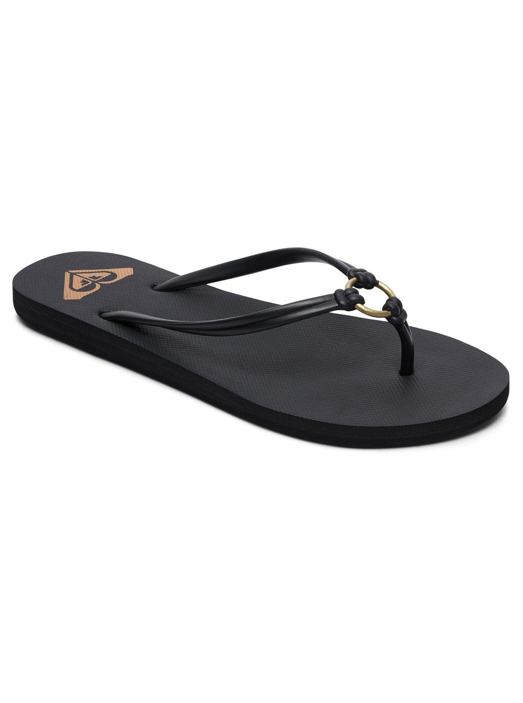 Roxy Solis Flip Flops - Black - Ladies Flip Flops