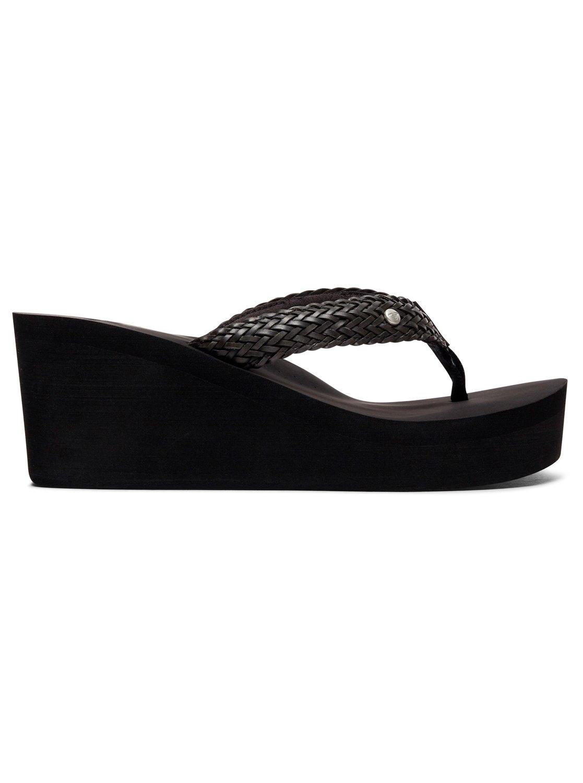 1 Mellie Wedge Sandals Black ARJL100675 Roxy 8411c4c7ed54