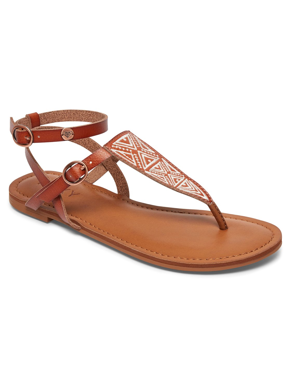 Milet Sandals Arjl200566 Roxy Tendencies Footbed 2 Strap Brown 41 0