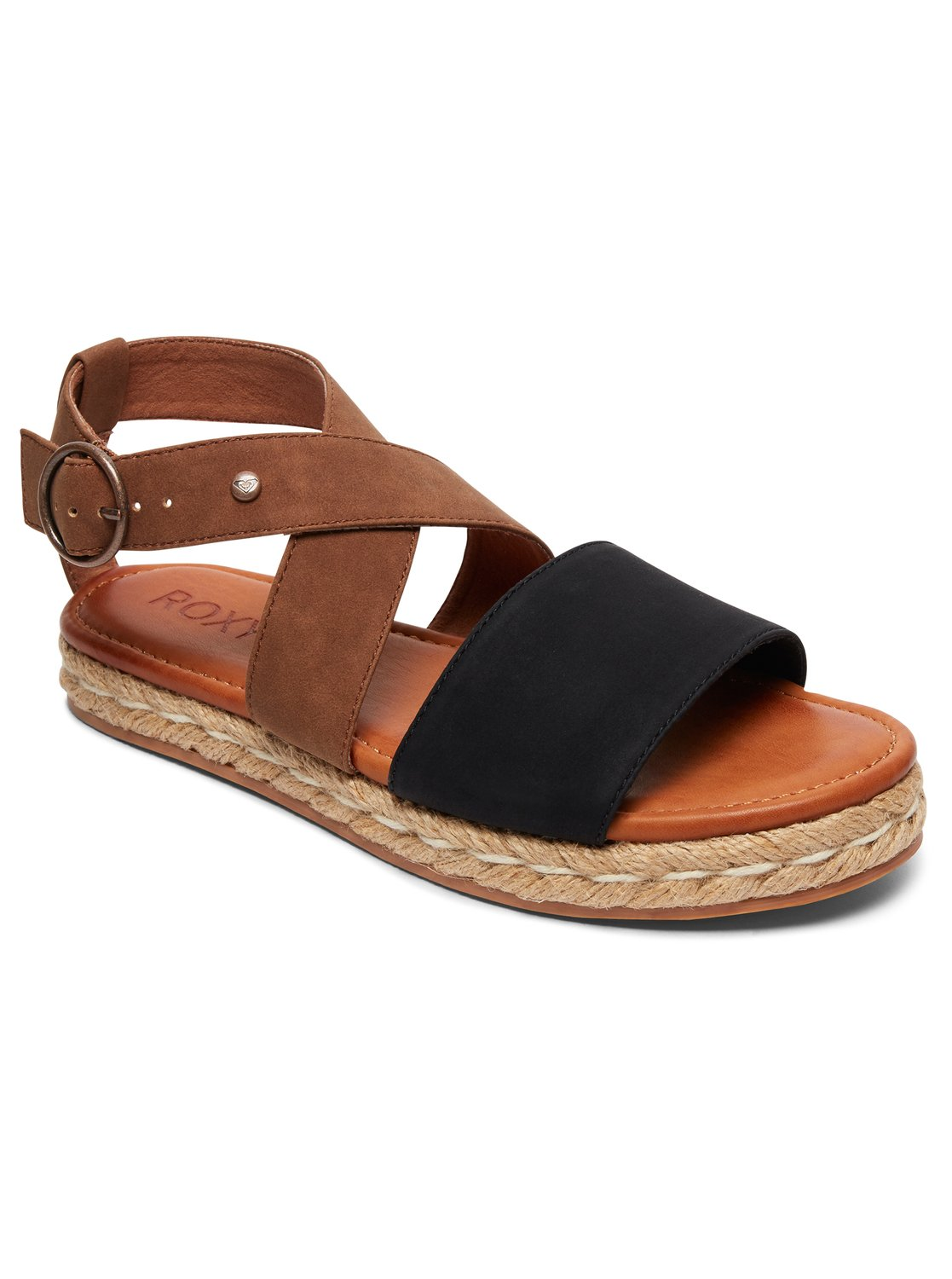 Raysa Sandals Arjl200623 Roxy Tendencies Footbed 2 Strap Brown 41 0