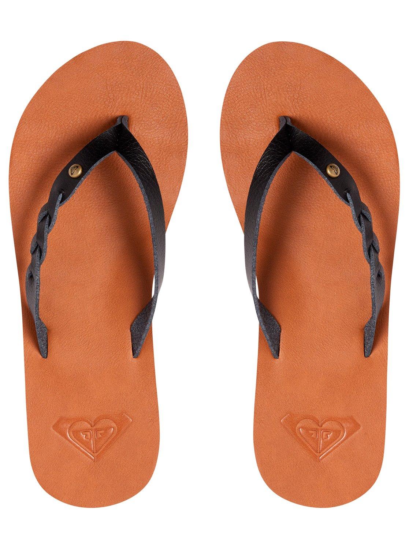 Liza Flip Flops Arjl200667 Roxy Tendencies Sandals Footbed 2 Strap Brown 42 3 Black