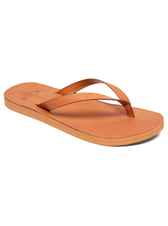 53d040b5b84b41 0 Brinn - Leather Flip-Flops for Women Beige ARJL200689 Roxy