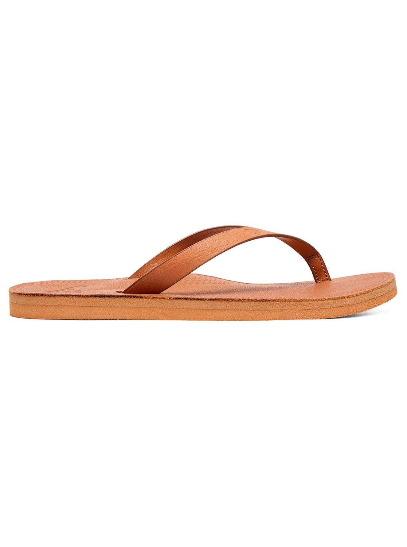 6461d4d8c871 1 Brinn - Leather Flip-Flops for Women Beige ARJL200689 Roxy