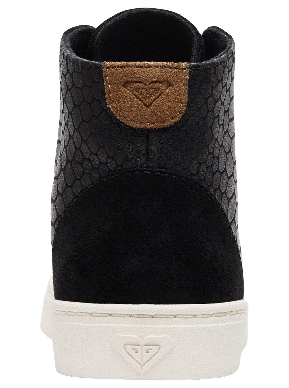 4 Melbourne - Zapatos de piel con cordones para Mujer Negro ARJS100018 Roxy c8aeda771cbfe
