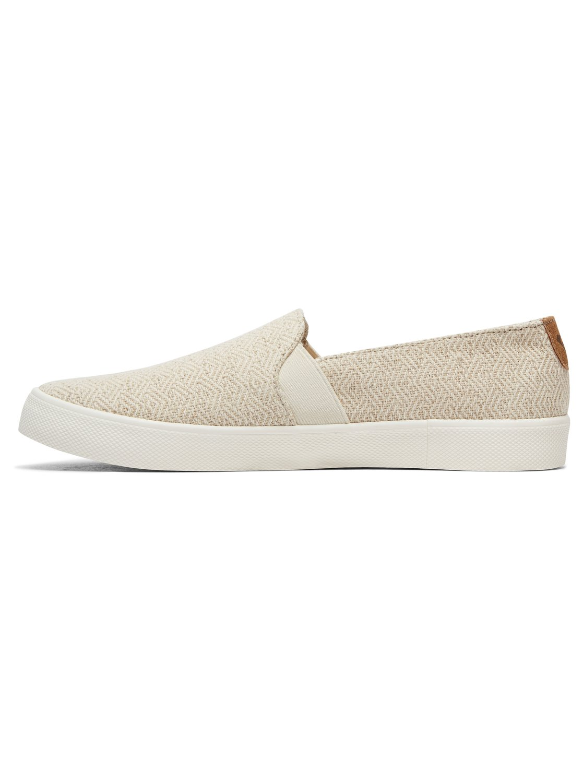 Roxy Damen Atlanta Slip on Sneaker, Weiß (White/Stripe Tst), 38 EU