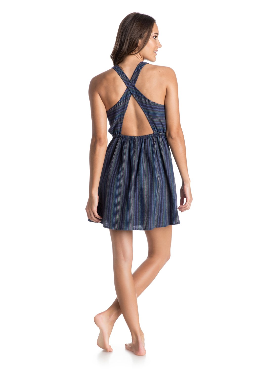 1 Coast To Coast Criss Cross Skater Dress ARJWD03078 Roxy 09ae83a53